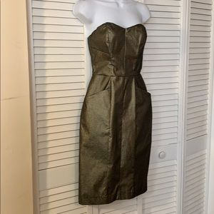 cache Strapless Dress w/ pockets